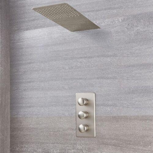 HUDSON REED Aldwick - Thermostatarmatur mit Wasserfall-Regen-Duschkopf