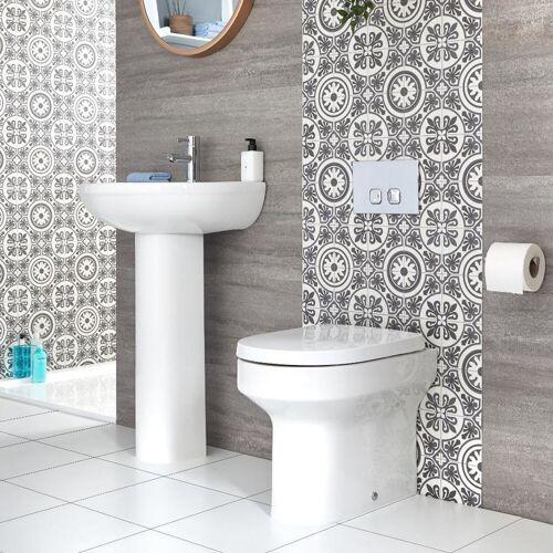 Hudson Reed Covelly - Säulenwaschbecken und Toilette mit
