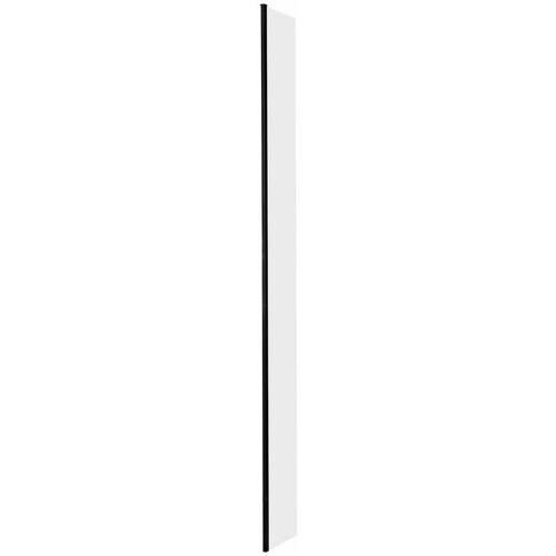 HUDSON REED Nox - 300mm Seitenwand mit Profil für Walk-In Duschwände - Schwarz
