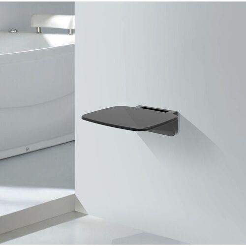 IMPEX-BAD klappbarer Duschsitz in schwarz zur Wandmontage