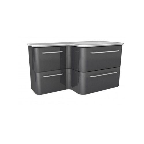 LANZET EKKO Waschtischunterschrank 100 cm mit Waschtisch-'7358912' - Lanzet