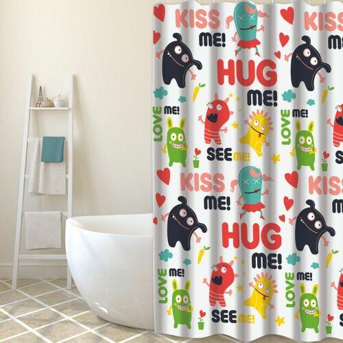 MSV Duschvorhang Hug Me multi Farbe 180cm - MSV
