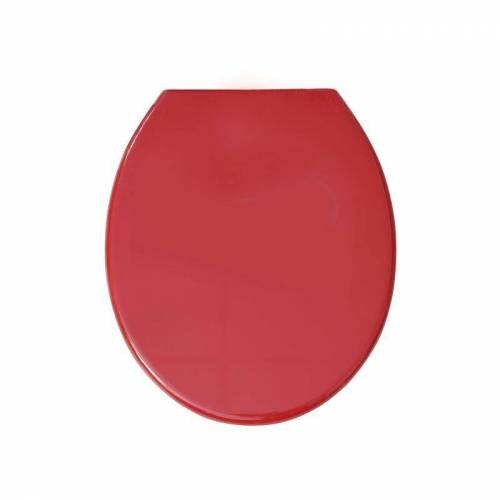 MSV WC Sitz Toilettendeckel PP WC Deckel – Rot