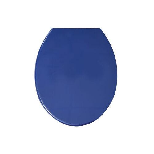 MSV WC Sitz Toilettendeckel PP WC Deckel – Blau - MSV
