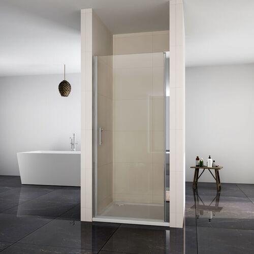 SONNI Nischentür Dusche 90cm Duschwand NANO Glas Duschtür Pendeltür