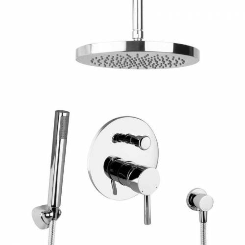 Paulgurkes - Regendusche Unterputz Dusch Set rund