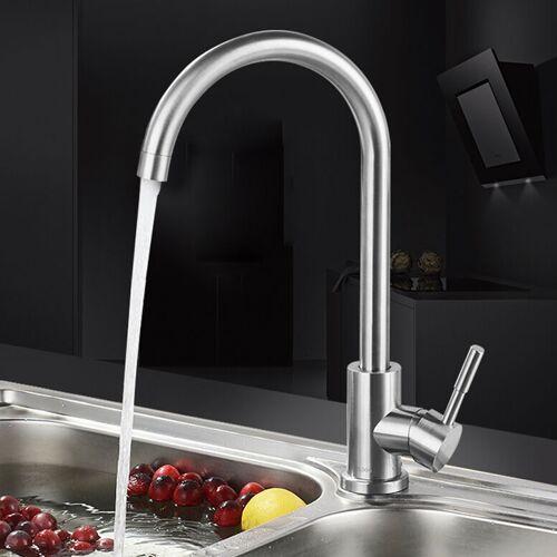 WYCTIN Rostfreier Spültischarmatur Küchenarmatur Wasserhahn Spültisch Heiß und