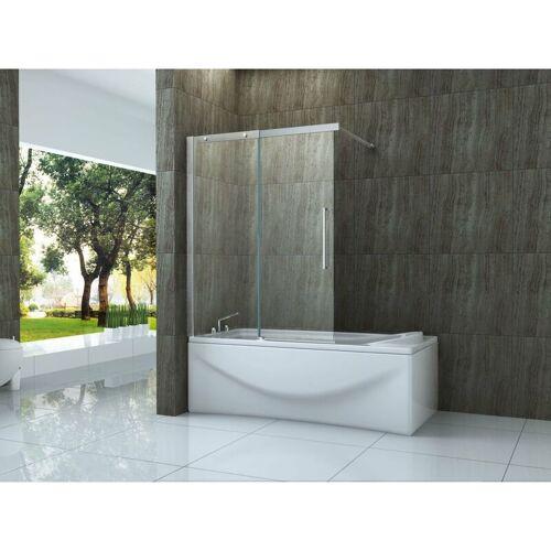 ALPHABAD Schiebetür-Duschtrennwand TRAMO 140 x 150 (Badewanne)