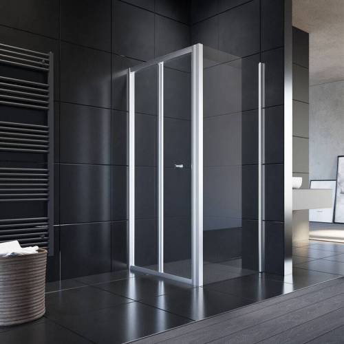 SONNI Duschkabine Falttür Duschwand glas faltbar für Badezimmer 80x70cm mit