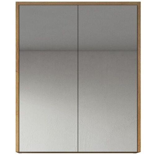 BADPLAATS Spiegelschrank Cuba 60cm Eiche - Schrank Spiegelschrank Spiegel