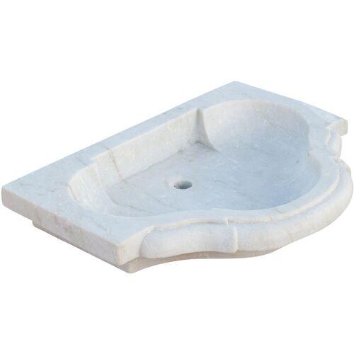 Biscottini - Waschbecken aus weißem Marmor L77xPR55xH13 cm
