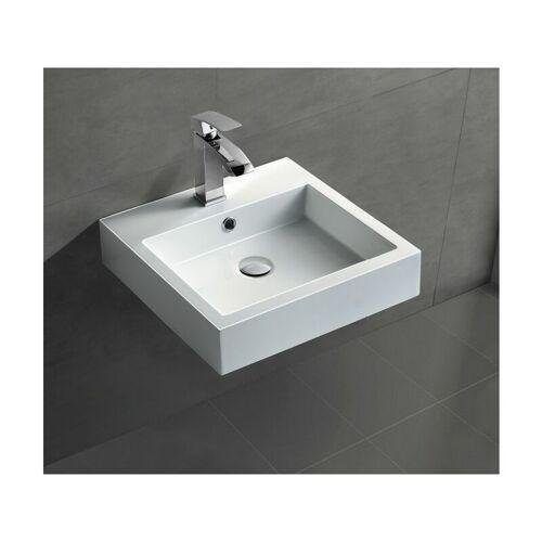 BERNSTEIN Wandwaschbecken Aufsatzwaschbecken BS6050 45 x 45 x 12,5cm