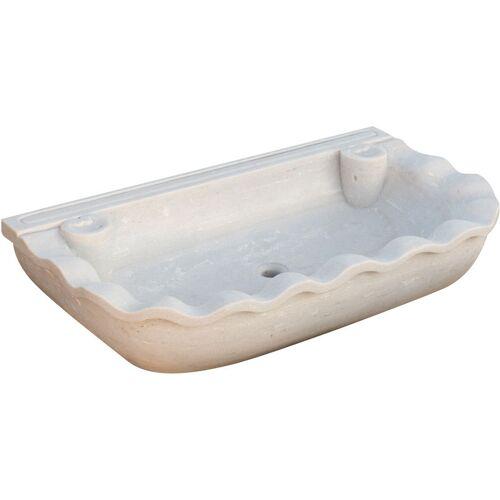 Biscottini - Waschbecken aus weißem Marmor L95xPR54xH17 cm