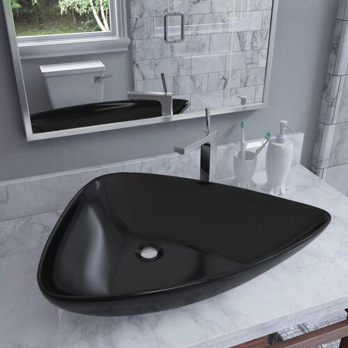 Zqyrlar - Waschbecken Keramik Dreiecksform Schwarz 645 x 455 x 115 mm