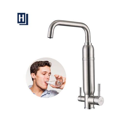 HOMELODY Wasserfilter Wasserhahn Edelstahl Wasserhahn Küche Armatur Kalkfilter