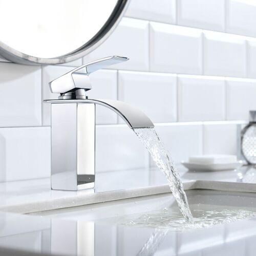 AURALUM Wasserhahnn Bad für Waschbecken Wasserfall Wasserhahn Küche und Bad
