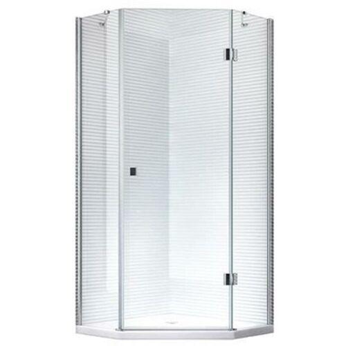 GLASZENTRUM HAGEN 100x100x195cm - Aya Duschkabine Dusche Duschabtrennung - 5eck - 8mm