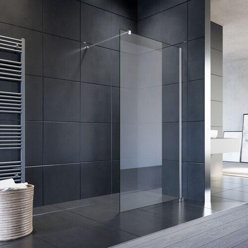 SONNI 100x200cm Walk in Duschwand, NANO ESG 8mm, Duschtrennwand Glaswand mit