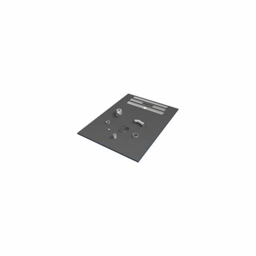 VALSTORM 150 x 90 x 3 cm Duschwanne, Fliesen bereit, mit Siphon Duschwanne © 1