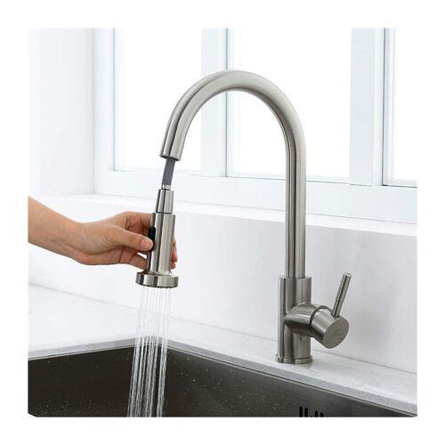 Homelody - Küchenarmatur ausziehbar Wasserhahn Küche hoher Auslauf