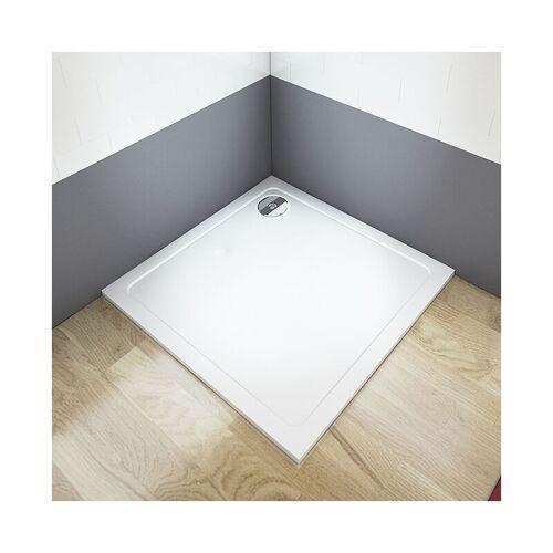 Aica 80x80cm Duschtasse 1Kunststein Acrylbeschichtung Für Duschkabine - Aica
