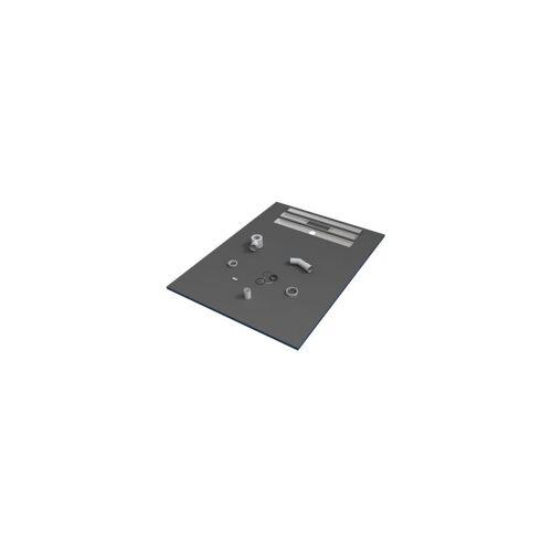 VALSTORM 90 x 90 x 3 cm Duschwanne, Fliesen bereit, mit Siphon Duschwanne © 1