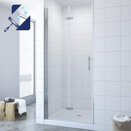 AQUABATOS ® Duschtür Falttür Drehfalttür in Nische Nischentür Dusche Faltbar