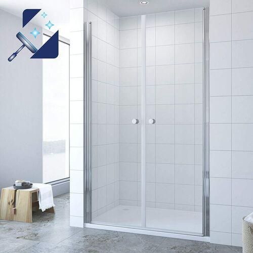 AQUABATOS® Duschtür Nische Pendeltür Dusche Nischentür 6 mm Echtglas