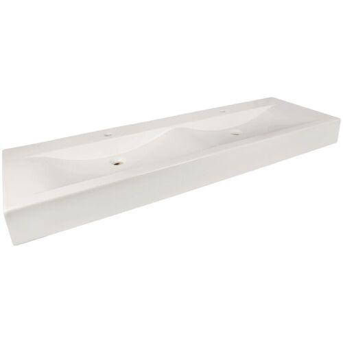 AQUASU 'aquaSu® Doppel-Waschtisch Plan   151 cm   Weiß   Waschbecken