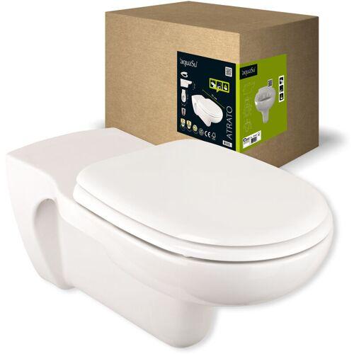 AQUASU 'aquaSu® Verlängertes Wand-WC Atrato mit WC-Sitz   altersgerechter