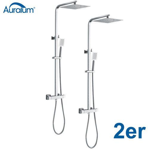 Auralum 2er Set Duschsystem mit Thermostat fürs Bad   Duscharmatur