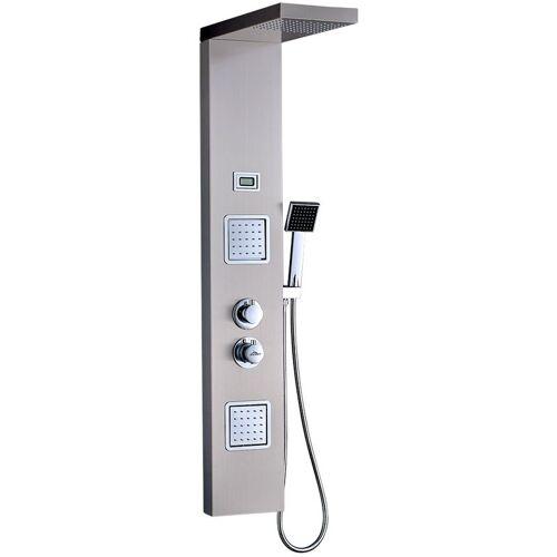 AURALUM Duschpaneel-System Thermostat LCD Temperaturanzeige Duschpaneel