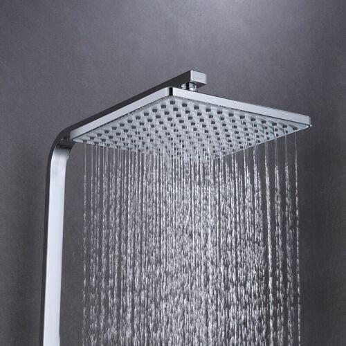 AURALUM Duschsäule mit Thermostat 3 Möglichkeiten zu duschen Messing - Auralum