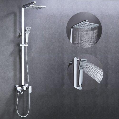 AURALUM Duschset Duschsystem Duschkopf-Mischbatterie 3-Funktion Duschsystem mit