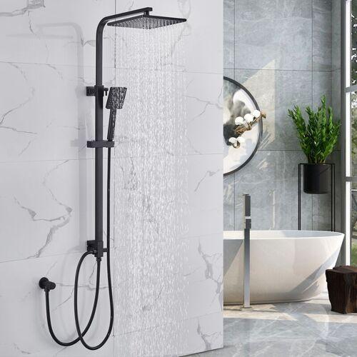 LONHEO Auralum Duschset Duschsystem ohne Armatur, Regendusche Duschsäule mit