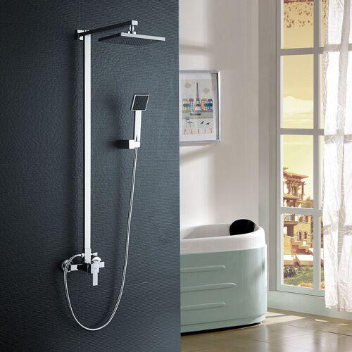 Auralum Duschsystem Duschset Duscharmatur Überkopfbrause Regendusche,