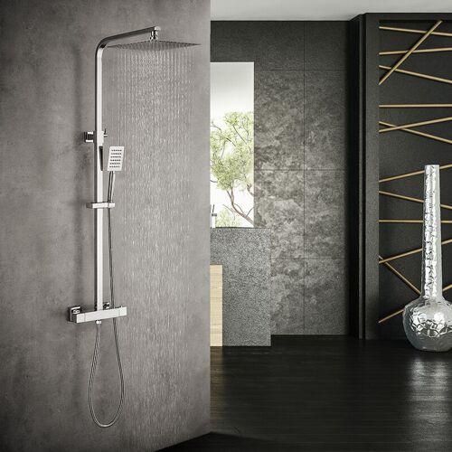 Auralum Duschsystem mit Thermostat fürs Bad   Duscharmatur Duschset