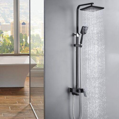 AURALUM Duschsystem Regendusche Duschset mit 3 Funktion, Duscharmatur