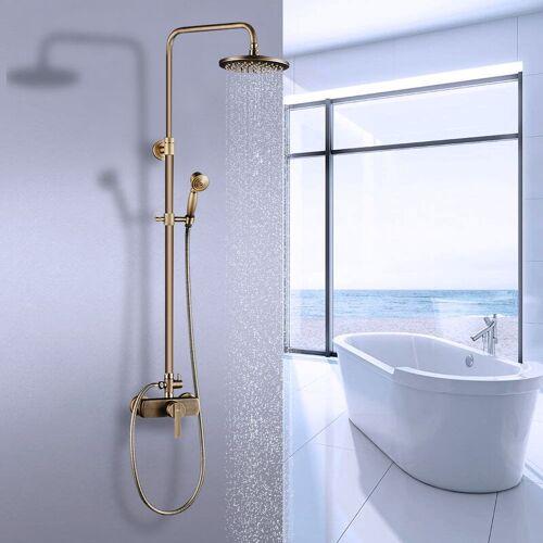 AURALUM Duschsystem Vintage Duschset Regendusche Duschsäule mit