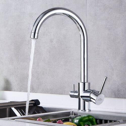 AURALUM Küche Wasserhahn 3 Wege Wasserfilter Trinkwasserhahn Küche Armatur für