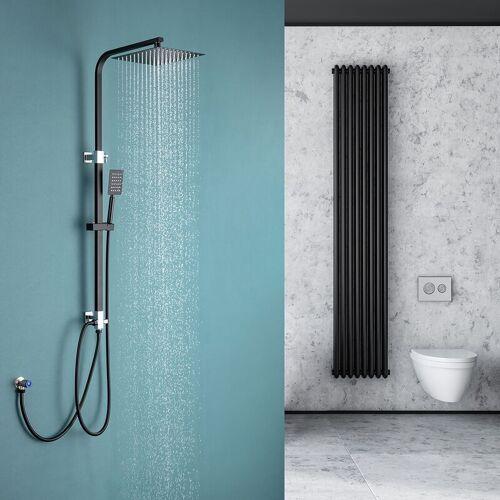 AURALUM Duschsystem Duschset Moderde Design Duscharmatur Duschsystem mit
