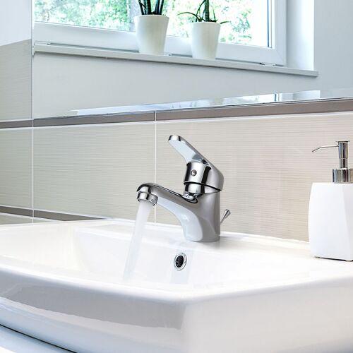 AURALUM Wasserhahn Bad Einhandmischer Waschbecken Armatur Badarmatur