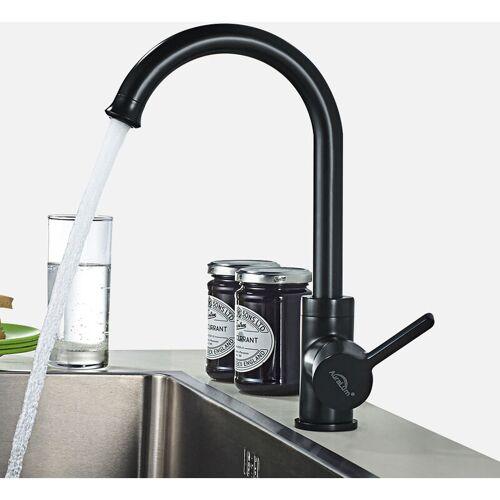 Auralum Wasserhahn Badarmatur Mischbatterie, Wasserhahn 360° drehbar