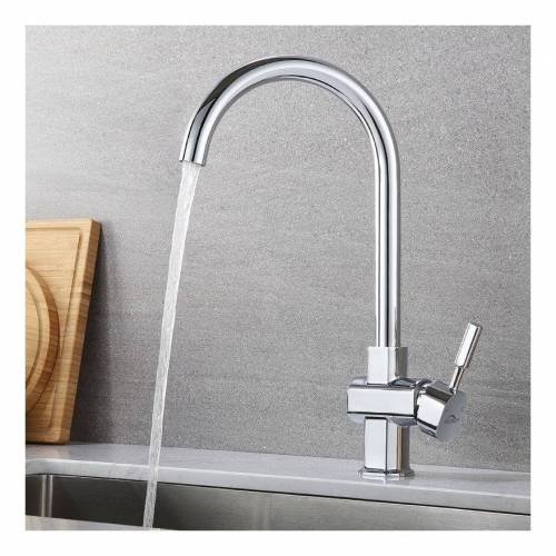 AURALUM Wasserhahn Küche 360° drehbar Modernes Chromdesign - Auralum