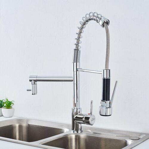 AURALUM wasserhahn küche 360 ° Drehung aus Messinghahn - Auralum
