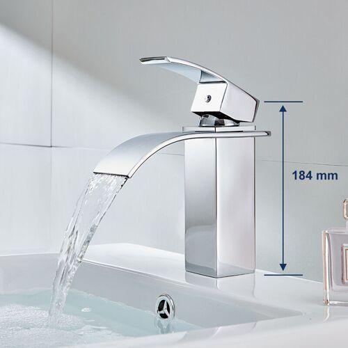 Auralum Wasserhahn Wasserfall Waschtischarmatur Bad Armatur für