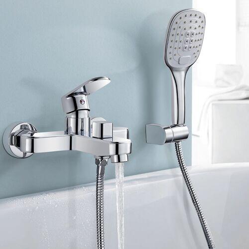 WOOHSE Badewannenarmatur mit Handbrause, WOOHSE Badewanne Wasserhahn mit 3