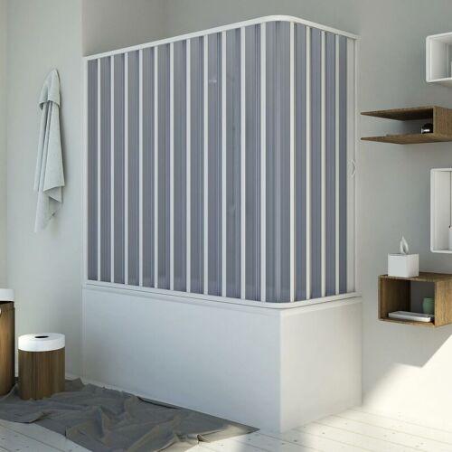 IDRALITE Badewannenaufsatz Duschkabine in PVC 140x70 CM H150 mod. Santorini