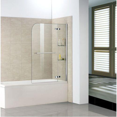 Aica Badewannenaufsätze 2-tlg 100x140cm Faltwand Duschwand Duschabtrennung