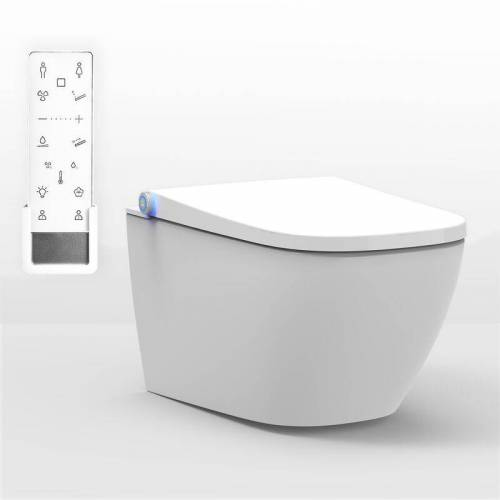 BERNSTEIN DUSCH-WC PRO+ 1104 in Weiß - Spülrandloses Dusch-WC eckig
